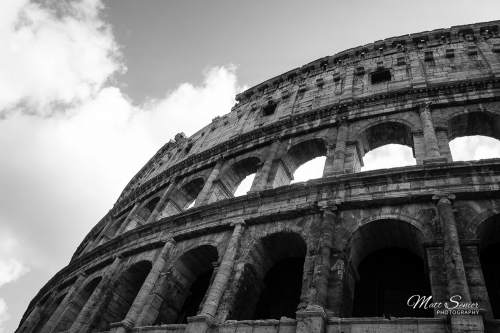 MS Productions Shop Canvas Print Colosseum Rome Black and White